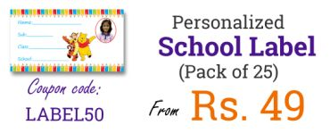 School Notebook Labels @ Rs 99