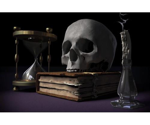 Funky - Skull On Book