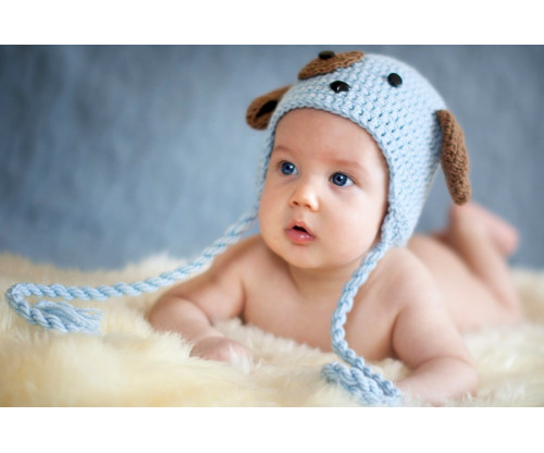 Child's Love - Cute Little Baby With A Blue Hat