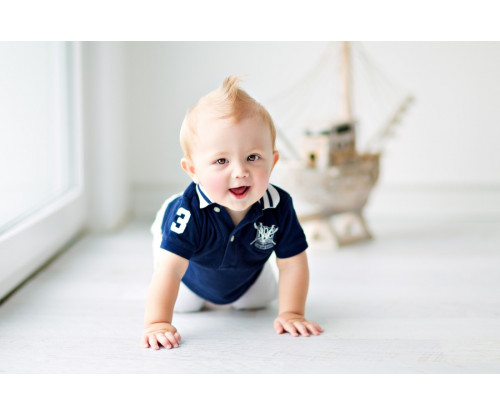 Child's Love - Smiling Baby With Spike Cut