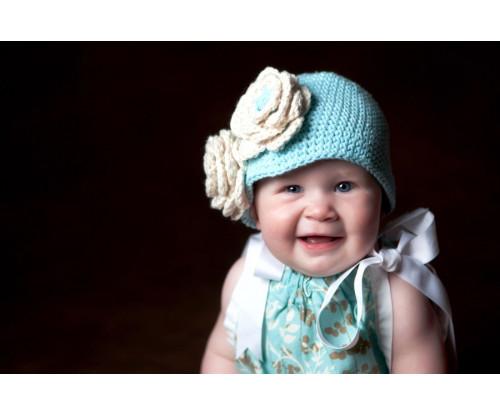 Child's Love - Cute Little Baby Girl In Blue