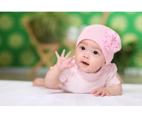 Child's Love - Cute Baby In A Pink Dress 3