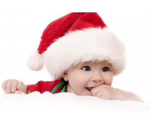 Child's Love - Cute Baby In Christmas Hat