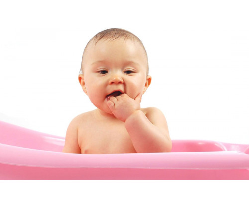 Child's Love - Cute Baby In A Pink Tub