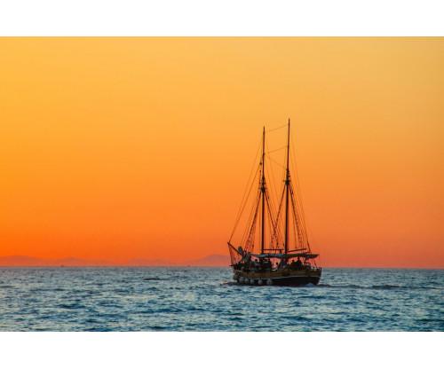 Beautiful Boat In Sea
