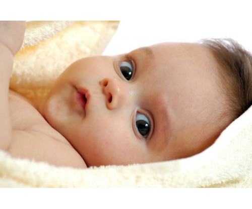 Child's Love - Cute Baby With A Towel