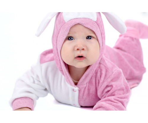 Child's Love - Cute Baby In Pink & White