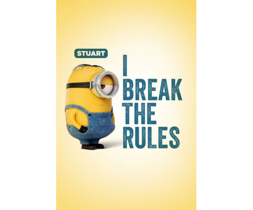 Cute Minion I Break The Rules