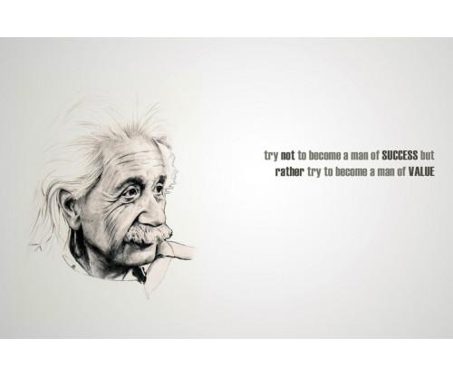 Albert Einstein Motivational Quote 2