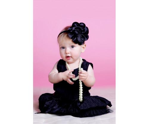 Child's Love -  Cute Little Girl In Black Dress