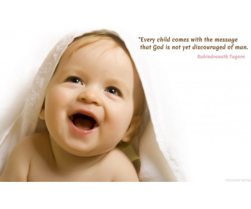 Child's Love - Cute Boy With Motivation Quote