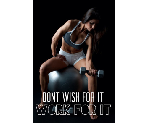 Work For It Motivation Quote