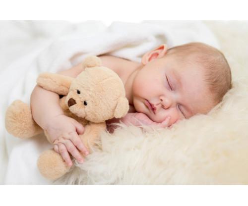 Cute Baby Sleeping With Teddy 2