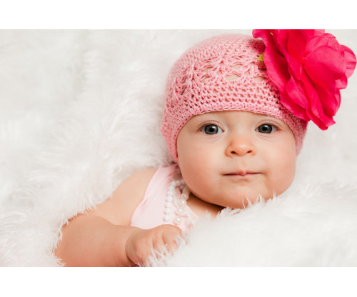 Child's Love - Cute Baby In A Pink Hat