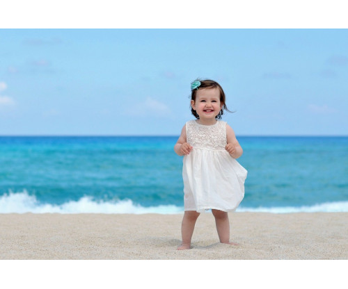 Child's Love - Smiling Girl On The Sea Shore