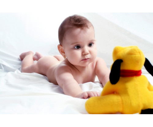 Child's Love - Playing With Pluto Dog