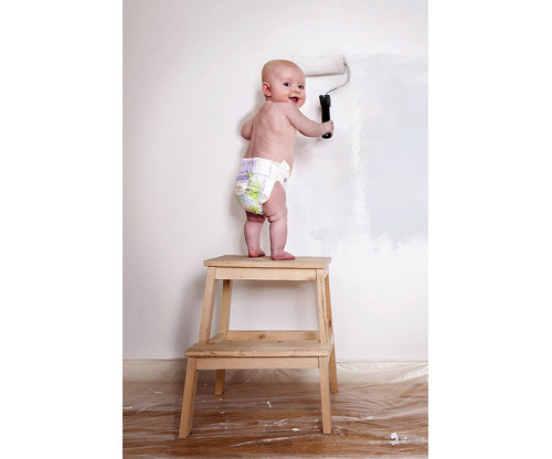 Child's Love - Cute Baby Painting Wall