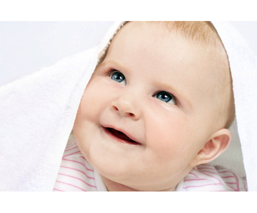 Child's Love - Smiling Baby In White Towel