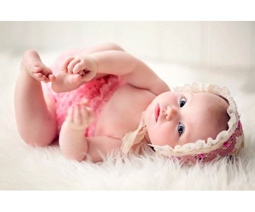 Child's Love - Cute Baby In A Pink Dress