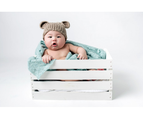 Child's Love - Cute Baby In A White Bucket