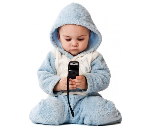 Child's Love -  Cute Baby Playing With Smartphone