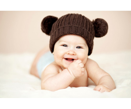 Child's Love - Cute Baby With Bear Hat