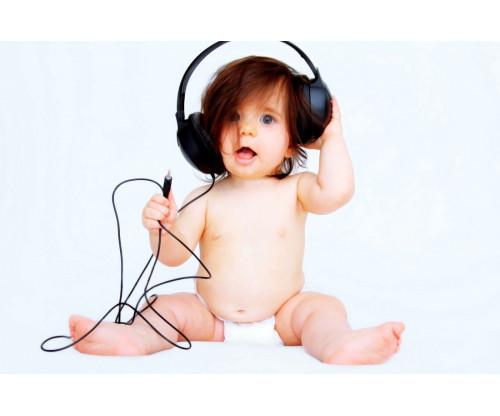 Child's Love - Cute Headphone Baby