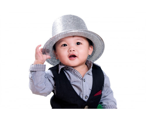 Child's Love - Baby With Silver Hat