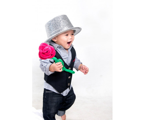 Child's Love - Baby With Silver Hat 3