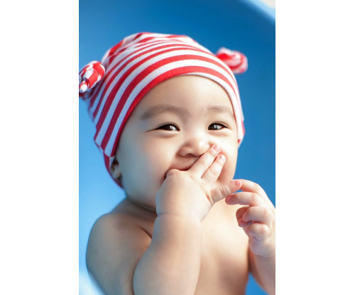 Child's Love - Cute Baby With Red Hat 2