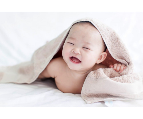 Child's Love - Cute Baby In A Towel