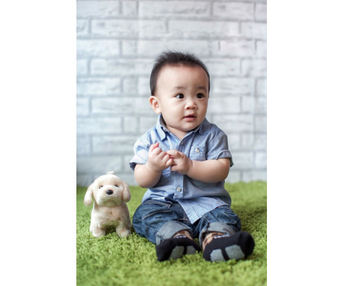 Child's Love - Cute Baby With His Toy
