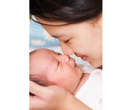 Child's Love - Cute Newborn Baby With Mother
