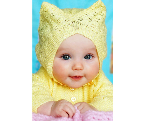 Child's Love - Cute Baby In Yellow Sweater