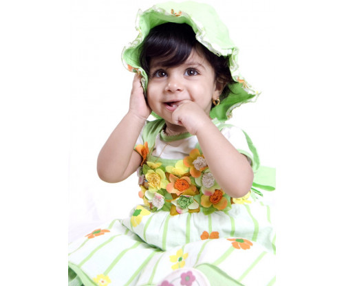 Child's Love - Cute Girl In Green Outfit