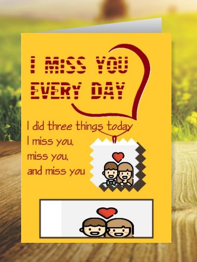 Miss You Greeting Cards ID - 3526