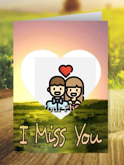 Miss You Greeting Cards ID - 4118