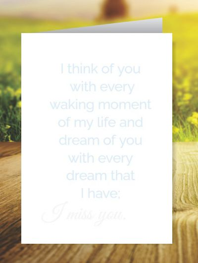 Miss You Greeting Cards ID - 4119