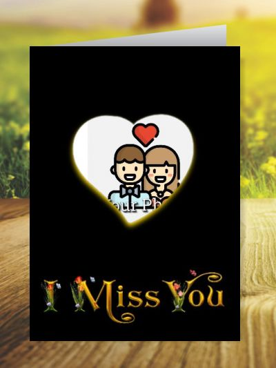 Miss You Greeting Cards ID - 4120