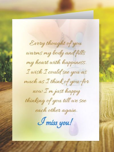 Miss You Greeting Cards ID - 4152