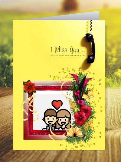 Miss You Greeting Cards ID - 4159