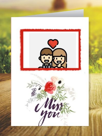 Miss You Greeting Cards ID - 4160