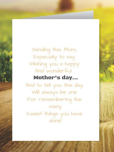 Mother's day Greeting Cards ID - 5810
