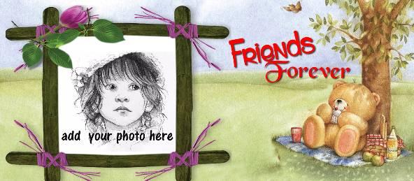 Friends Forever - Teddy Under Tree Coffee Mug