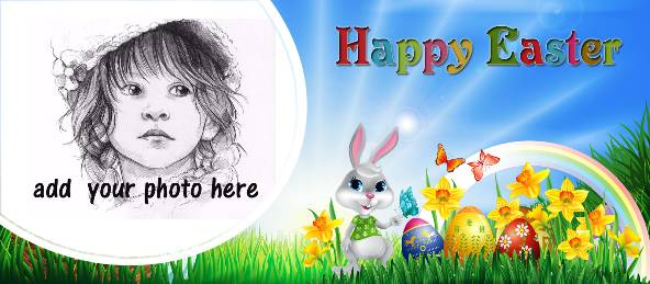 Happy Easter - Rabbit and Rainbow Coffee Mug