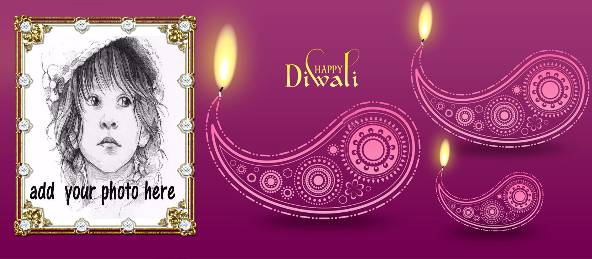 Happy Diwali - Violet Diya Coffee Mug